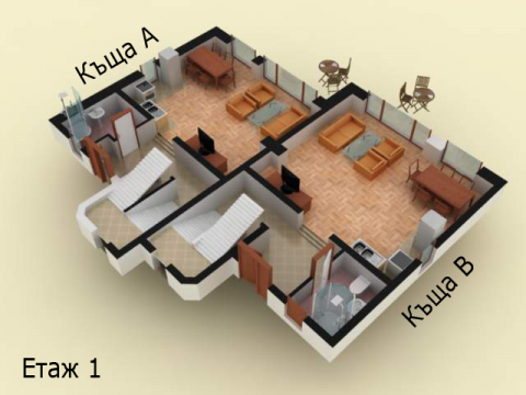 Къща тип 1 | план етаж 1 | Комплекс Созополис