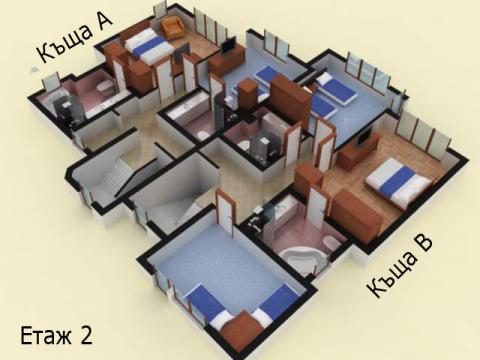 Къща тип 1 | план етаж 2 | Комплекс Созополис