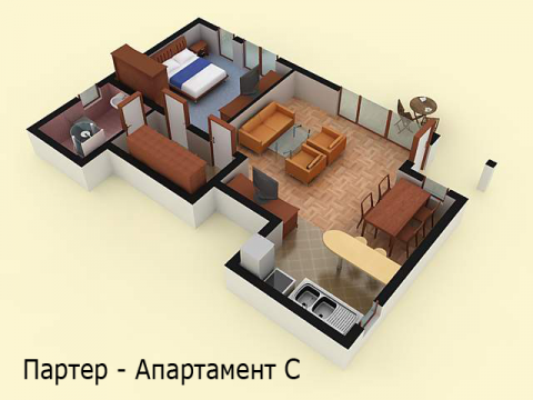 Къща тип 2 | апартамент - партер | Комплекс Созополис