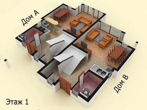 Дом типа 2 | Этаж 1 | Созополис