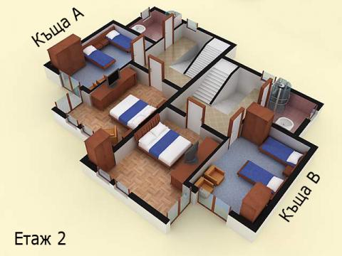 Къща тип 2А | план етаж 2 | Комплекс Созополис