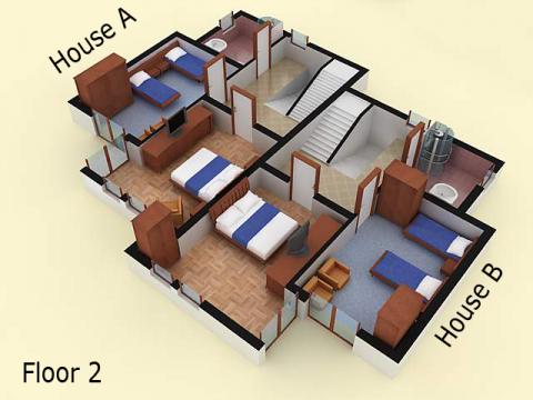 House type 2A | floor 2 | Sozopolis