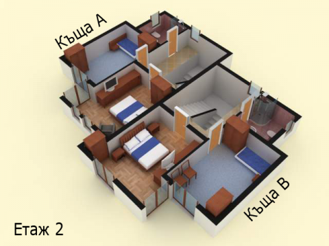 Къща тип 3 | план етаж 2 | Комплекс Созополис