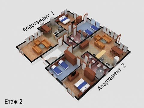 Къща тип 5 | план етаж 2 | Комплекс Созополис