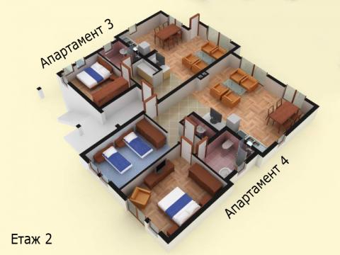 Къща тип 6 | план етаж 2 | Комплекс Созополис