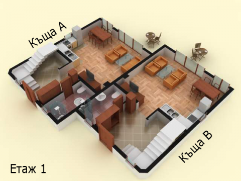 Къща тип 7 | план етаж 1 | Комплекс Созополис