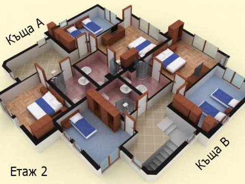 Къща тип 7 | план етаж 2 | Комплекс Созополис