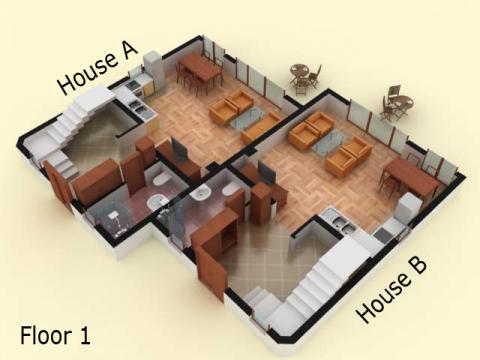 House type 7 | floor 1 | Sozopolis
