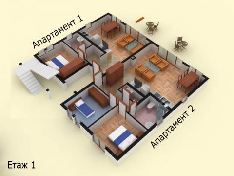 План на имота - апартамент 1